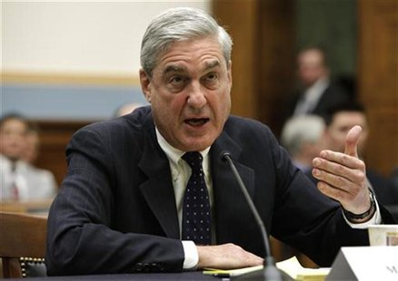 FBI Director Robert Mueller testifies before the House Judiciary committee hearing on Capitol Hill in Washington May 9, 2012. REUTERS/Yuri G