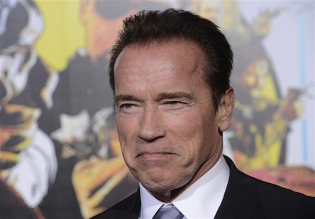 "Cast member Arnold Schwarzenegger attends the premiere of the film ""The Last Stand"" in Los Angeles, California January 14, 2013. REUTERS/Phi"