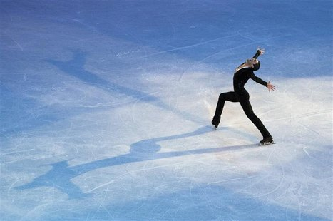 Evan Lysacek performs during the Smucker's Skating Spectacular at the U.S. Figure Skating Championships in Greensboro, North Carolina Januar