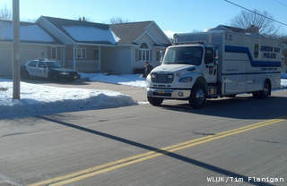 Green Bay police investigate the deaths of two people at a home on West Point Rd., Jan. 17, 2013. (courtesy of FOX 11).