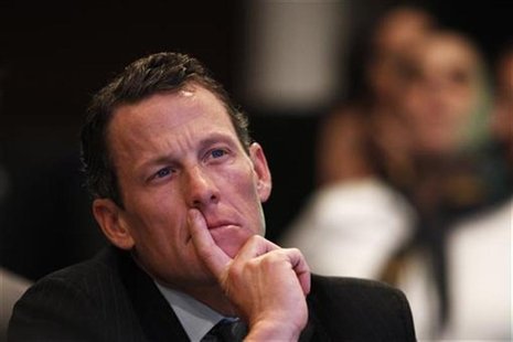 Lance Armstrong takes part in a special session regarding cancer in the developing world during the Clinton Global Initiative in New York in