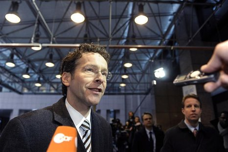 Netherlands' Finance Minister Jeroen Dijsselbloem arrives at a Euro Zone finance ministers meeting in Brussels January 21, 2013. REUTERS/Eri