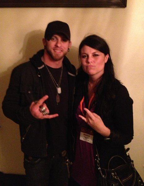 Jess Kelley with Brantley Gilbert. Shhh don't tell Jana Kramer.