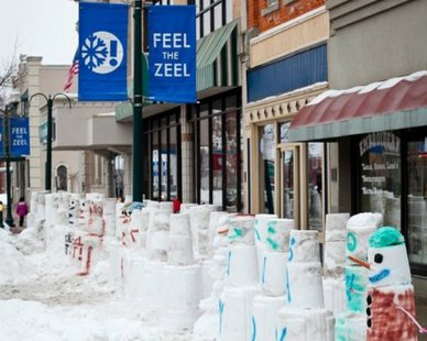 Wintervention Scene in Zeeland (photo courtesy City of Zeeland)