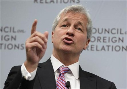 JPMorgan Chase & Co CEO Jamie Dimon speaks about the state of the global economy at a forum hosted by the Council on Foreign Relations (CFR)