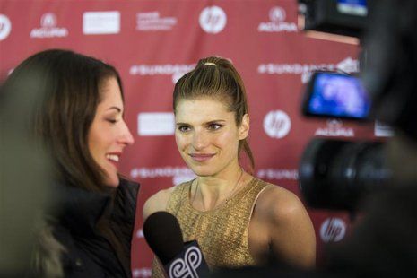 "Director Lake Bell arrives for the premiere of the film ""In A World"" during the Sundance Film Festival in Park City, Utah, January 20, 2013."