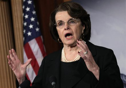 U.S. Senate Intelligence Committee Chairman Senator Dianne Feinstein (D-CA) speaks to the media on NRA/assault weapons on Capitol Hill in Wa