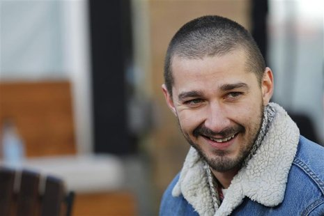 "Actor Shia LaBeouf from the movie ""The Necessary Death of Charlie Countryman"" smiles during the Sundance Film Festival in Park City, Utah Ja"