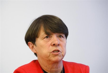 Mary Jo White, Partner Debevoise & Plimpton and former U.S. Attorney for the Southern District of New York, speaks during the Reuters Finana