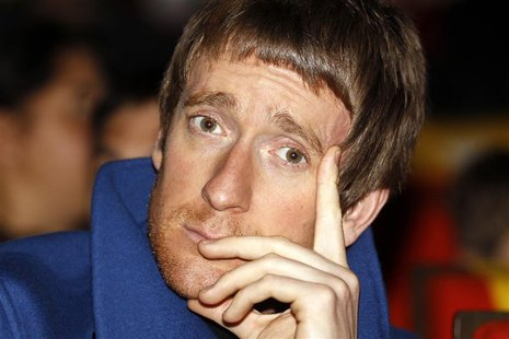 Britain's cyclist Bradley Wiggins attends the presentation of the itinerary of the 2013 Tour de France cycling race in Paris October 24, 201