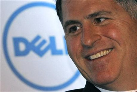 Dell Inc. founder and chief executive Michael Dell smiles during a business conference organised by the Federation of Indian Chambers of Com