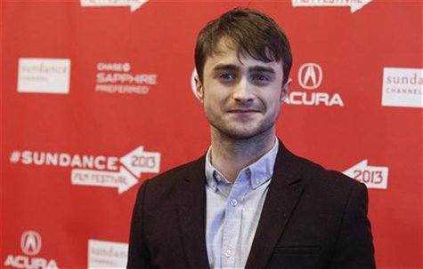 "Cast member Daniel Radcliffe poses at the premiere of ""Kill Your Darlings"" during the Sundance Film Festival in Park City, Utah January 18,"