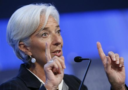 International Monetary Fund (IMF) chief Christine Lagarde attends the annual meeting of the World Economic Forum (WEF) in Davos January 25,