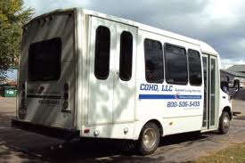 Schofield based COHO LLC Transportation wheelchair bus.  Photo from COHO