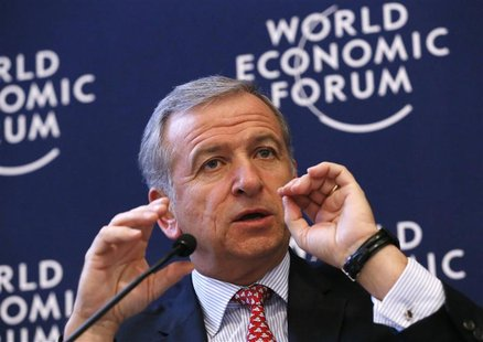 Chile's Finance Minister Felipe Larrain speaks during the annual meeting of the World Economic Forum (WEF) in Davos January 25, 2013. REUTER
