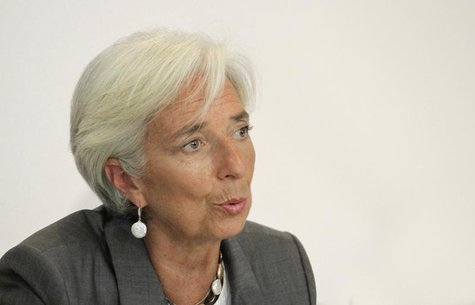 International Monetary Fund chief Christine Lagarde speaks during a news conference at a hotel in Cocody, Abidjan January 8, 2013. REUTERS/