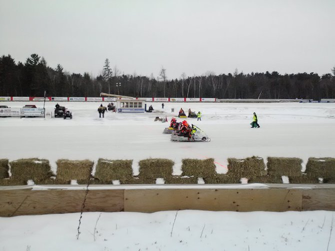 Snowmobile races.