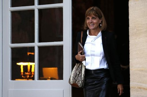 Former French nuclear reactor maker head Anne Lauvergeon arrives for a meeting with France's Prime Minister at the Hotel Matignon in Paris O