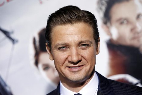 "Actor Jeremy Renner arrives at the premiere of the film ""Hansel and Gretel: Witch Hunters"" at Grauman's Chinese Theatre in Hollywood, Califo"