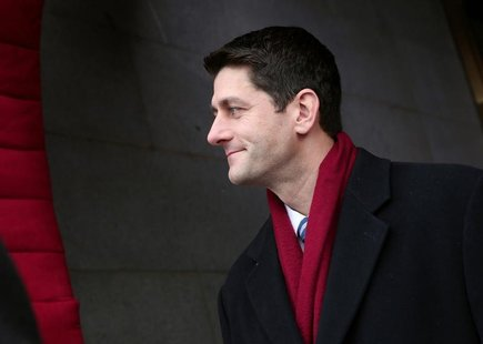 U.S. Rep. Paul Ryan (R-WI) arrives for the Barack Obama second presidential inauguration on the West Front of the U.S. Capitol January 21, 2