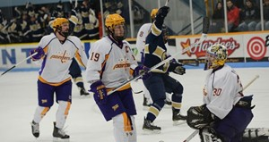 UWSP Men's Hockey.   Photo courtesy UWSP Athletics Dept.
