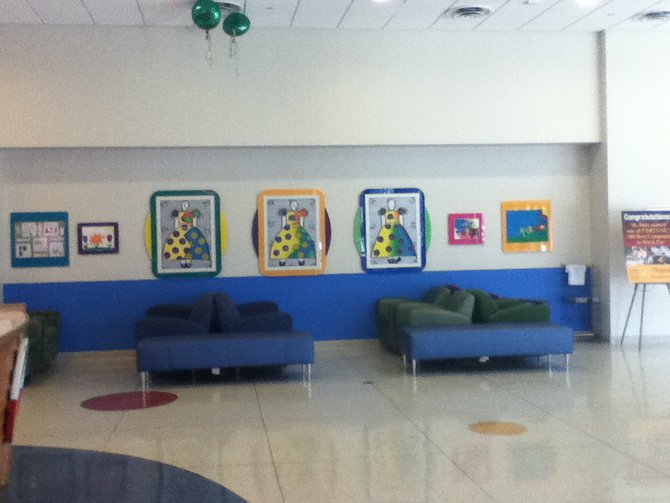 Sample of patient art around the hospital