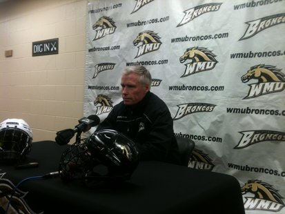 WMU head hockey coach Andy Murray from his weekly media press conference.