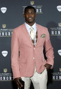 San Franciso 49ers Aldon Smith arrives for the Inaugural National Football League Honors at Super Bowl XLVI in Indianapolis, Indiana, Februa