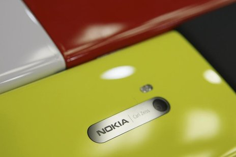 Nokia Lumia smartphones are pictured in a shop in Warsaw, January 11, 2013. REUTERS/Kacper Pempel
