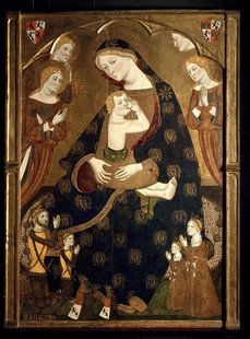 "The artwork ""Virgen de Tobed"" by Jaume Serra, dated in 1359, is seen in this undated picture provided by the Prado Museum in Madrid January"