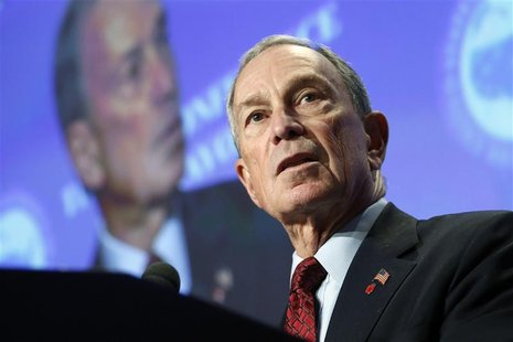 New York City Mayor Michael Bloomberg makes remarks on curbing gun violence to the U.S. Conference of Mayors winter meeting in Washington, J