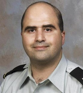 Major Nidal Malik Hasan, the U.S. Army psychiatrist charged in a mass shooting at the U.S. Army post in Fort Hood, Texas, is seen in this un