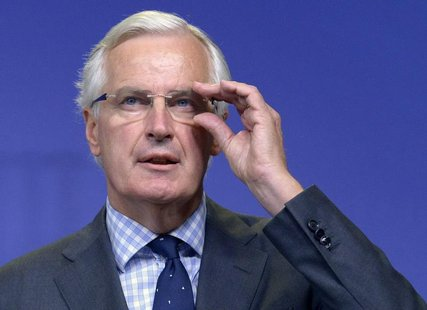 Michel Barnier, the European Commissioner in charge of regulation, speaks at a news conference in Brussels October 2, 2012. REUTERS/Eric Vid