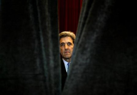 File photo of Secretary of State-designate John Kerry in Columbia January 30, 2004. REUTERS/Kevin Lamarque