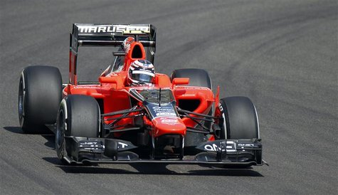 Marussia Formula One test driver Max Chilton of Britain drives during the first practice session of the Abu Dhabi F1 Grand Prix at the Yas M