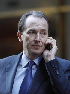Morgan Stanley CEO James Gorman talks on his cell phone after leaving a meeting with lawyer Davis Polk in New York January 13, 2011. REUTERS