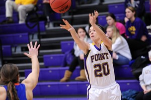 UW Stevens Point Women's Basketball vs. Platteville.  Photo courtesy UWSP Athletics Dept.