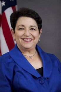 "Elisse Walter is pictured in this undated SEC handout photo. President Barack Obama designated Walter as chairman not as ""acting"" or ""interi"