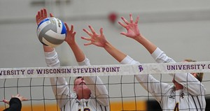 UW Stevens Point Volleyball.  Photo courtesy of UWSP Athletic Department