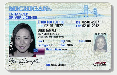 Michigan enhanced drivers license