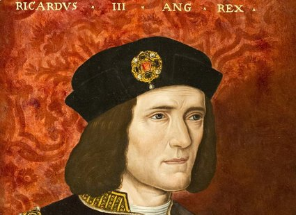 A painting of King Richard III by an unknown artist from the 16th Century is seen at the National Portrait Gallery in London in an August 24