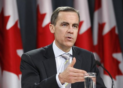 Bank of Canada Governor Mark Carney speaks during a news conference upon the release of the Monetary Policy Report in Ottawa January 19, 201