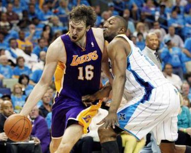Los Angeles Lakers center Pau Gasol REUTERS/Sean Gardner