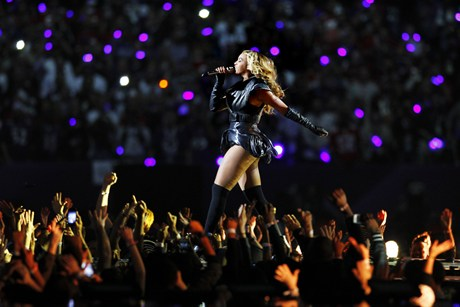 Beyonce at the Super Bowl (Reuters)