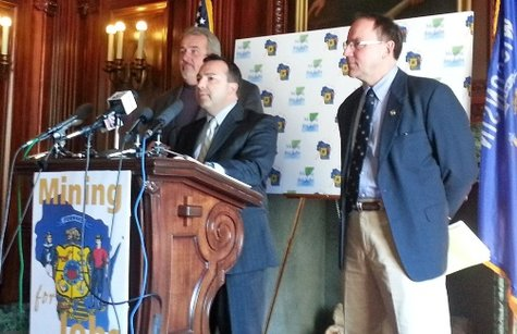 Republican lawmakers outline possible changes to their mining bill. (Photo: Wisconsin Radio Network)