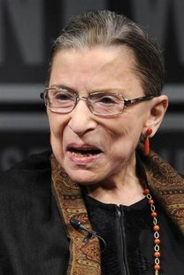Supreme Court Justice Ruth Bader Ginsburg, who was nominated by former U.S. president Bill Clinton, makes remarks during a forum at the News