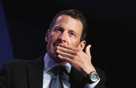 Lance Armstrong, founder of the LIVESTRONG foundation, takes part in a special session regarding cancer in the developing world during the C