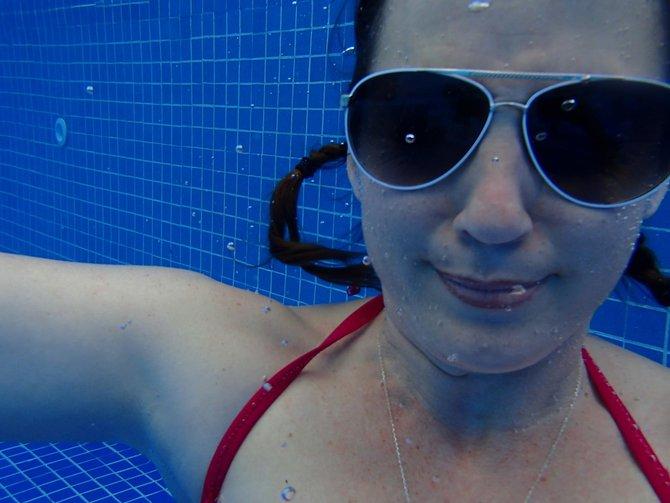 Charli underwater