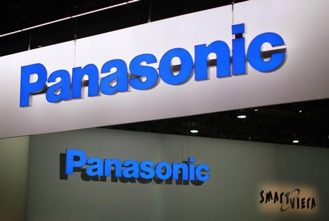 Signs hang above the Panasonic booth on the second day of the Consumer Electronics Show (CES) in Las Vegas January 9, 2013. REUTERS/Rick Wil