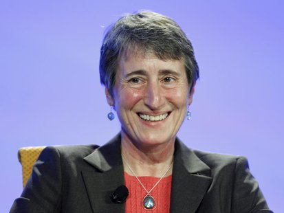 Sally Jewell, the president and chief executive of REI (Recreational Equipment, Inc), speaks at the Fortune Brainstorm Green conference in L